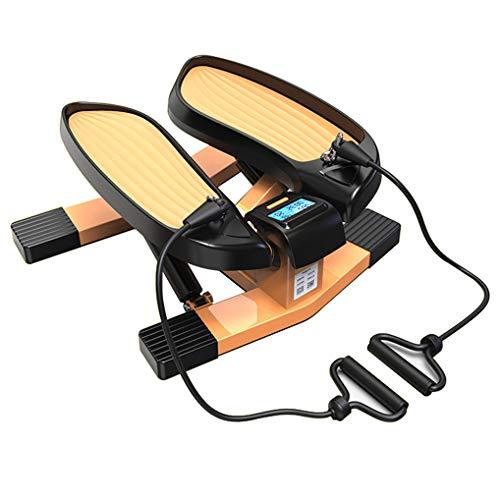 Cacoffay Fitness Mini Stepper Übung Ausrüstung Multifunktion Schritt Maschine mit Widerstand Bands Haushalt Gy zum Aerobic Übung Brennen Kalorien