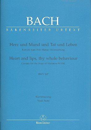 Johann Sebastian Bach: Herz und Mund und Tat und Leben BWV 147 (Kantate zum Fest Mariae Heimsuchung) für Soli, Chor und Orchester -- Klavierauszug (dt./eng.) mit Bleistift in der Bärenreiter Urtext Edition (Noten/sheet music)
