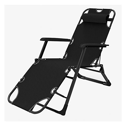 Silla de playa plegable para el almuerzo, reclinable y portátil, para uso en exteriores