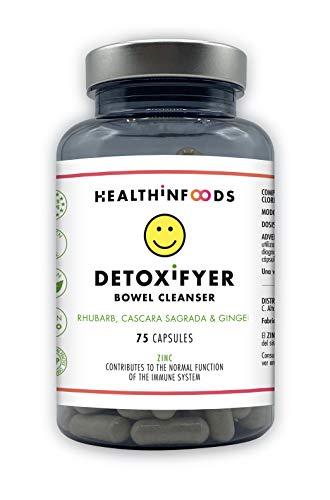 Detox adelgazante potente Detox cleanser Detox Digestivo Detox depurativo para Eliminar Toxinas Detox Adelgazante y Purificante Vegano 75 cápsulas Detoxifyer Healthinfoods