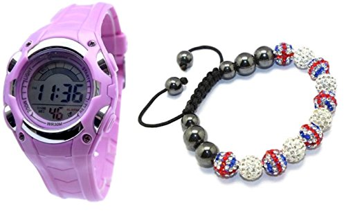 Coffret Montre Fille ADO London Londres + Bracelet SHAMBALLA Union Jack