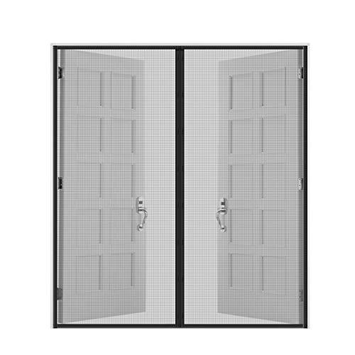 """Fiberglass Mesh Magnetic Screen Door 72""""x80"""" ,Fly Mosquitoes Bug Insect Instant Retractable Magic Curtain For Sliding Glass Door French Door Patio Door"""