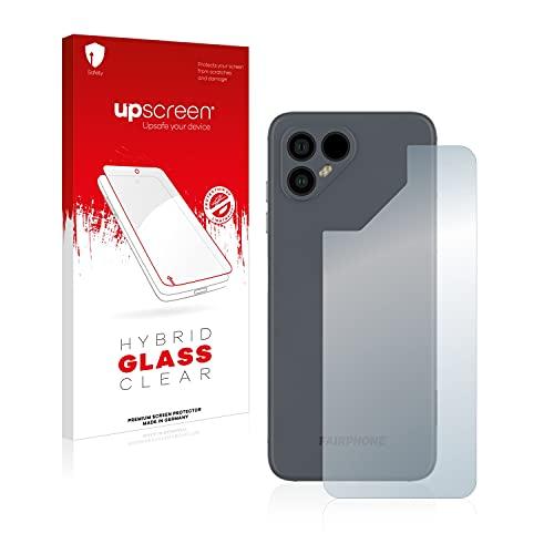 upscreen Protector Pantalla Híbrido Compatible con Fairphone 4 (Trasero) Hybrid Glass – 9H Dureza
