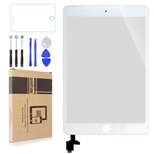 Srjtek Scherm Vervanging voor IPad Mini 3 Touch Screen Digitizer A1599 A1600, Vervangende Onderdelen met IC Chip en Camera Houder
