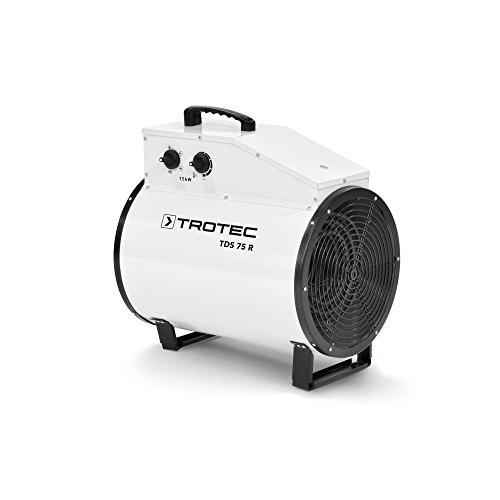 TROTEC Elektroheizer TDS 75 R mit 15 kW Heizlüfter Heizgerät Bauheizer mit integriertem Thermostat