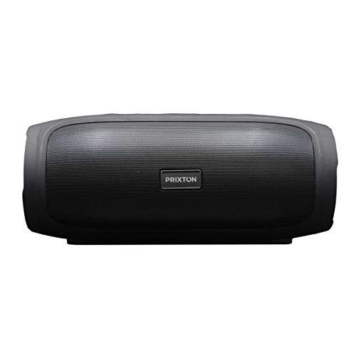PRIXTON Zeppelin Lite W200 - Altavoz Bluetooth portatil con Conexión Bluetooth, AUX IN, Tarjeta TF y USB, Función Manos Libres y Radio FM, Negro