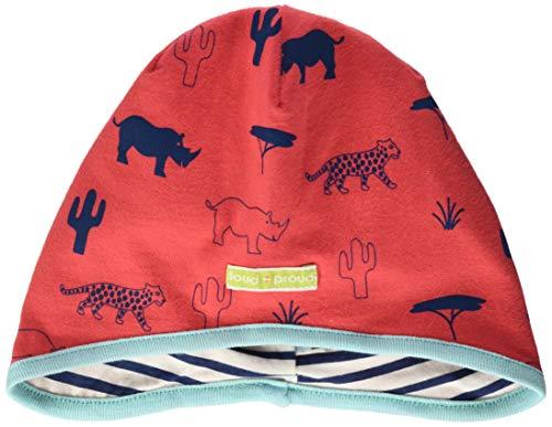 loud + proud Unisex Baby Wendemütze mit Druck, aus Bio Baumwolle, GOTS zertiziziert, Rot (Cayenne Cay), 47/49 (Herstellergröße: 98/104)