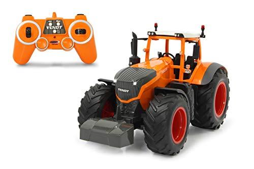 Jamara 405045 Fendt 1050 Vario Kommunal 1:16 2,4GHz-RC Traktor, Motorsound (abschaltbar), Rückfahrwarnsound, Hupe, Abschaltfunktion, 2 Radantrieb, Licht vorne, Blinker, Demo Funktion, Orange