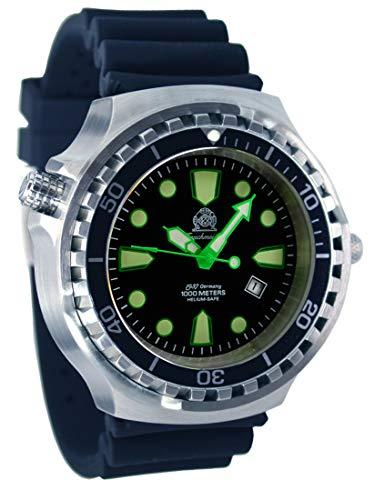 Super Big 52mm Diver Watch - Movimiento automático de cristal de zafiro velve helio T0330