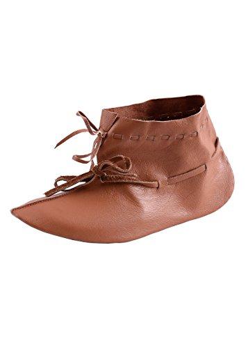 Wikingerschuhe aus Haithabu, wendegenäht Halbstiefel Edelmann Mittelalter - LARP - Wikinger Schuhe Größe 40-47 (43)
