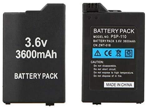 Bateria para Sony PSP Series 2000/3000, Batería Interna PSP 2001, 2002, 2003, 2004, 200X / PSP 3001, 3002, 3003, 3004, 300X / PSP Slim, Modelo: PSP-S360 3600mAh 3.6V CN: COOU-018