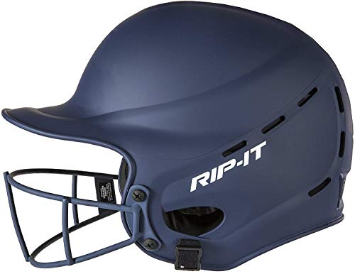 Rip-It Vision Pro Matte Softball Batting Helmet (Matte Black, Small/Medium)