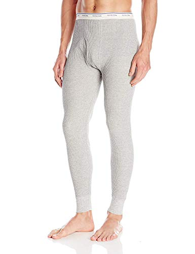 Fruit of the Loom Men's Classics Midweight Waffle Thermal Underwear Bottoms (1 & 2 Packs)