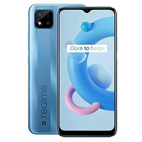 Realme C11 2021 (32 Gb, 2 G Ram) Android 11 | Dual 13 MP,2 MP LED Flash, 1080p@30fps | Li-Po 5000 mAh | Modelo internacional (GSM compatible), gris metal (azul lago)