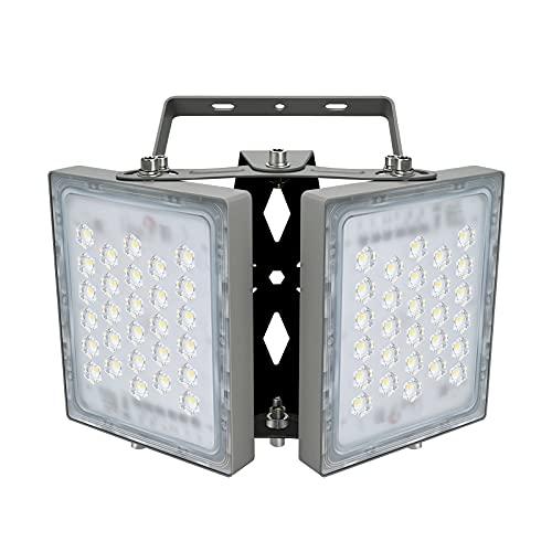 100W LED-Sicherheitslicht, 9000LM Superhell LED Fluter Flutlicht Außenstrahler, IP65 Wasserfest, 5000K Tageslicht, 2 Flutlicht mit verstellbarem Kopf unter, für Garten, Garage, Hotel ect.