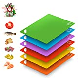 Amazon Brand Extra Flexible Plastic Cutting Boards for Kitchen...