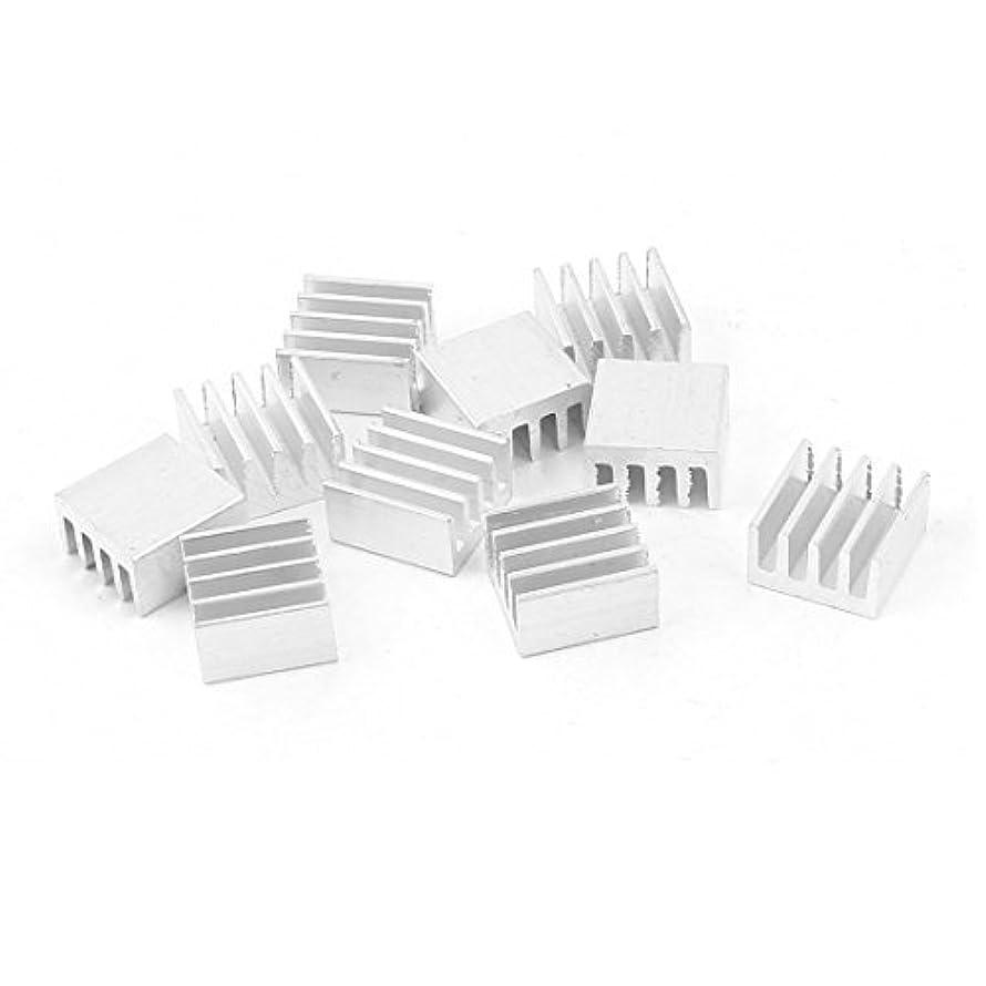 DealMux 10 Pcs Silver Tone Aluminum Radiator Heat Sink Heatsink 9x5x9mm