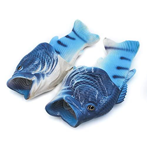 Coddies Fisch Flops | Strandschuhe, Flip Flops, Freizeitschuhe, Hausschuhe, Duschschuhe und Sandalen für Männer, Frauen und Kinder, Blau, 42/43 EU