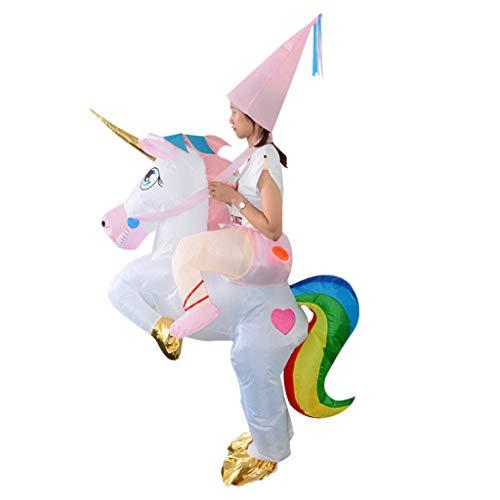 FLAMEER Costume Unicorno Costume Gonfiabile Scimmia Accessori di Facile Installazione Organizzatore Materiale Durevole