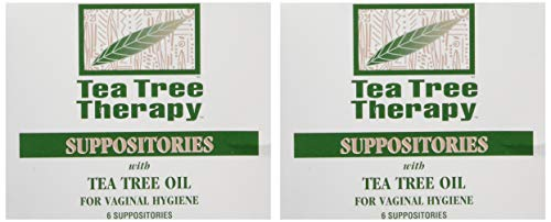 Tea Tree Therapy - Suppository with Tea Tree Oil For Vaginal Hygiene (2-Pack of 6)