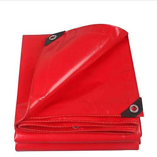 Lonas Mirador Cuchillo De Alta Resistencia del PVC Que Raspa La Piscina Al Aire Libre A Prueba De Agua Impermeable Y El Aislamiento De Calor ZHML (Color : Red, Tamaño : 2 * 2)