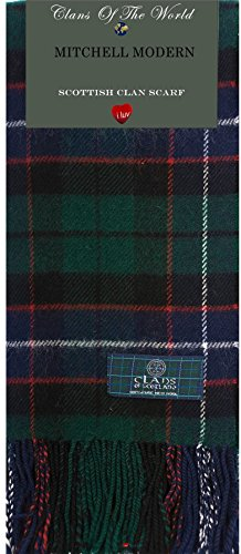 I Luv Ltd Mitchell Modern Tartan Clan Scarf 100% Soft Lambswool