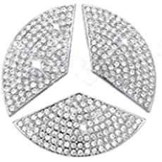 GLA TopDall Steering Wheel Affalterbach Tree Logo Badge Emblem Overlay Decal Decoration Cover Sticker Trim for Mercedes-Benz A CLA ML S E B,C GLE GLC,GLK Class GL
