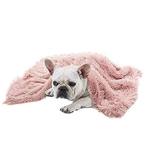 BVAGSS Super Warme Weiches warmes Haustier Hundedecke Hundematte Waschbar für Hund Katzen XH025 (M, Pink)