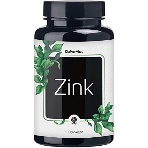 DiaPro® Zink-Tabletten hochdosiert 25 mg elementares Zink pro Tablette aus Zink-Bisglycinat 365 Stück Jahresvorrat 100{5da9498859018f3646f6877e5b39bc161f67e9d879325fa1f8f9f1e322f67ede} Vegan Laborgeprüft