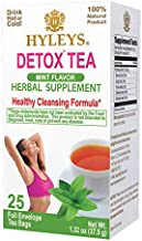 Hyleys Detox Tea for Cleanse and Weight Loss - Green Tea with Mint - 25 Tea Bags (1 Pack)