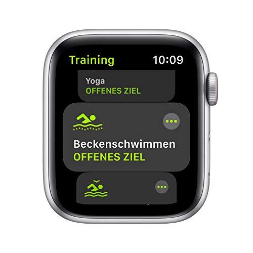 AppleWatch SE (GPS+ Cellular, 44mm) Aluminiumgehäuse Silber, Sport Loop Dunkelmarine