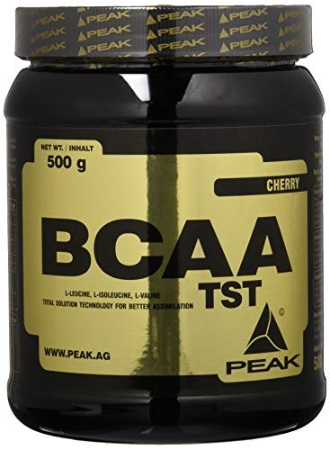 PEAK BCAA TST 500g | Premium BCAAs | 10.000mg BCAAs pro Portion | High Quality (Cherry)