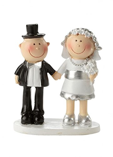 Hochzeitspaar Silberhochzeit 25 Jahre Deko Tortendeko 5,5 cm Hochzeit