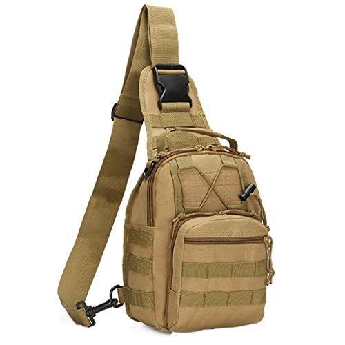 Fashion design:The tactical backpack has compact appearance, conform to the tactical trends, easy to carry. Multiple storage function: the main inter pocket with three auxiliary pockets' design,The single shoulder bag is easy for categorizing and sto...