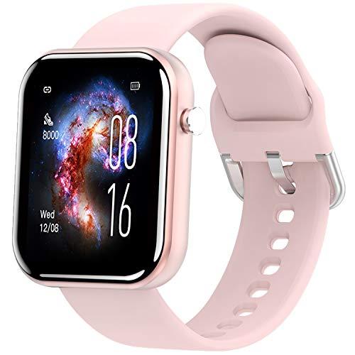 jpantech Smartwatch, Fitness Armband Tracker Voller Touch Screen Uhr IP68 Wasserdicht Armbanduhr Smart Watch mit Schrittzähler Pulsmesser Stoppuhr für Damen Kinder...