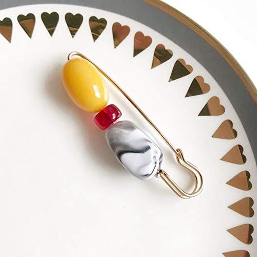 FimGGe estilo étnico perla figura retro personalidad ropa accesorios sola palabra broche pin, C-27