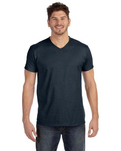 Hanes Men's Cotton Nano V-Neck T-Shirt