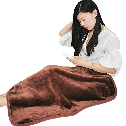 YUE mattress, heated heated blanket leg shawl knee protector, electric blanket office blanket-coffee color_80X150cm