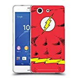 Official The Flash DC Comics Costume Logo Soft Gel Case Compatible for Sony Xperia Z3 Compact / D5803