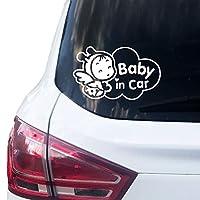 Baby in Car Aufkleber Größe 16,5 cm x 10 cm UV- und Witterungsbeständig, Waschstraßenfest, Rückstandslos entfernbar In 10 verschiedenen Farben erhältlich, weitere Farben auf Anfrage