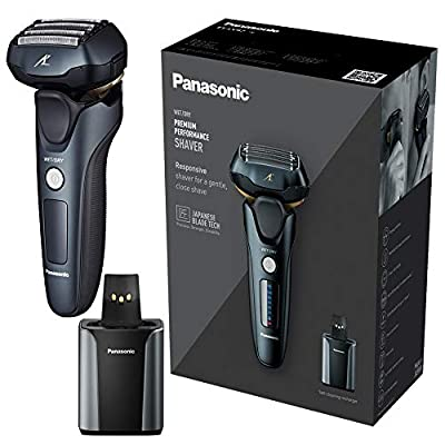 Panasonic ES-LV97 Wet & Dry Electric 5-Blade Shaver with Cleaning & Charging Stand, UK 2 Pin Plug