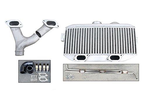 Top Mount Intercooler TMIC Upgrade + Y-Pipe Kit compatible with 2002-2007 Subaru Impreza WRX/STi