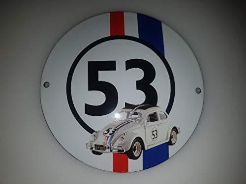EMAILLE SCHILD Ø 12 cm Automne KÄFER #53 Logo Enamel Shield GLOSSAR!