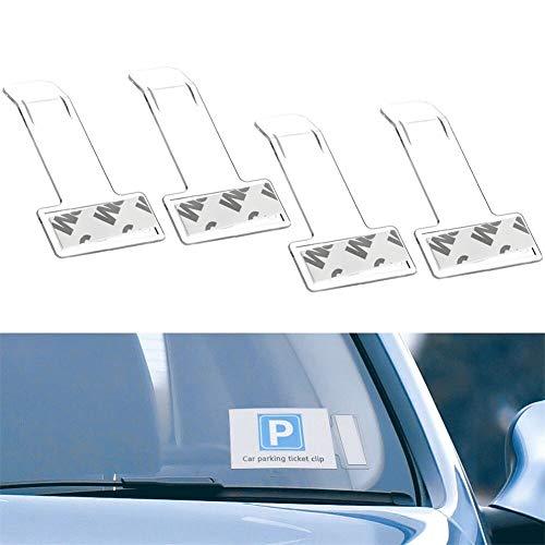 ZOOENIE 4 PCS Auto Styling Parkplatz Ticket Clip Auto Fastener Karte Rechnung Halter Organizer Windschutzscheibe Aufkleber