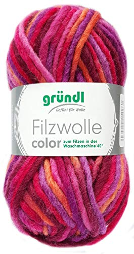Gründl Filzwolle Color 50g (Lila Pink Orange 30)