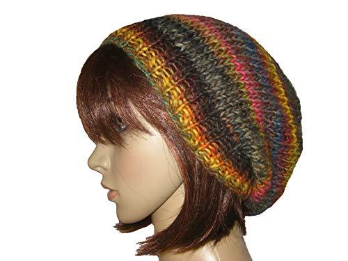 Mütze mit schönem Farbverlauf, Beanie, Strickmütze