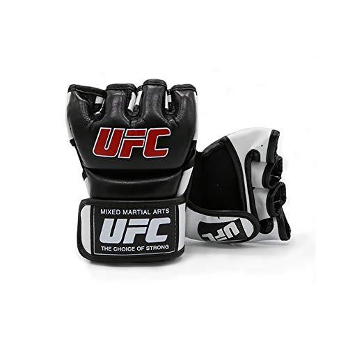 BAIEPING Guantes de lucha para artes marciales, Muay Thai, boxeo, sacos de arena, entrenamiento de lucha UFC, guantes de cuero