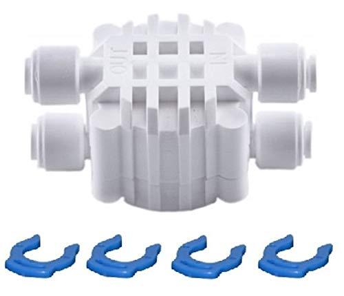 """Planet-Aqua Abschaltautomatik Vierwegeventil mit 1/4"""" Schlauchanschluss für Osmoseanlage Wasserfilter Umkehrosmose Ventil Kupplung Filter Absperrventil"""