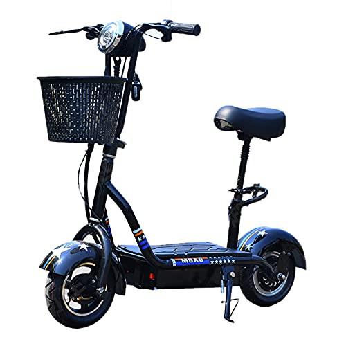 MKKYDFDJ con Pantalla,Patinete Eléctrico,Viaje Ligero Y Portátil De La Ciudad E-Bicicleta,Velocidad Máxima 25km/H,Plegable De 45KM De Autonomía Bicicleta Eléctrica