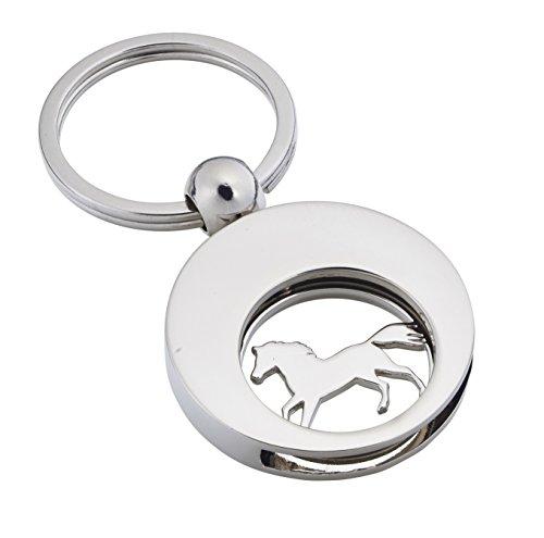 Jadani Schlüsselanhänger 'The Horse' mit Einkaufswagenchip Pferd